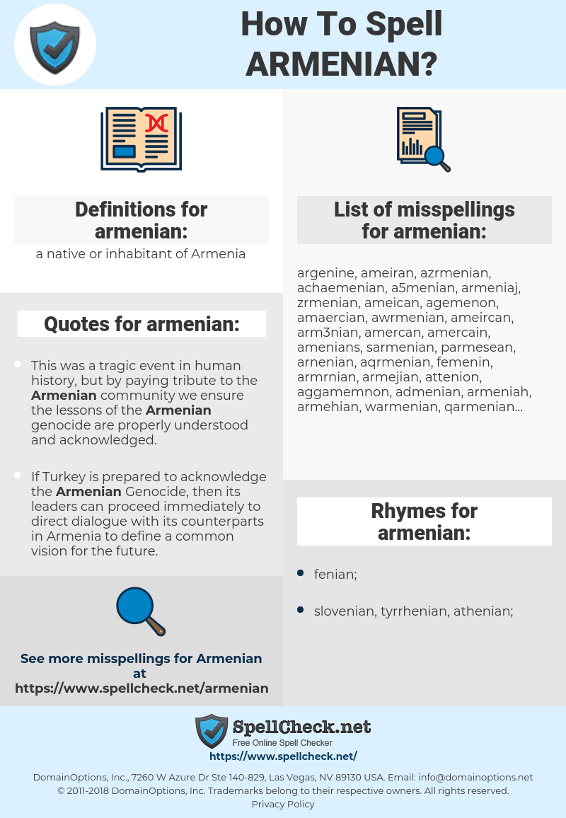 armenian, spellcheck armenian, how to spell armenian, how do you spell armenian, correct spelling for armenian