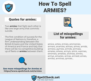 armies, spellcheck armies, how to spell armies, how do you spell armies, correct spelling for armies