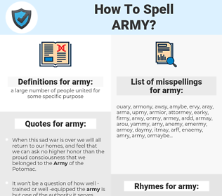 army, spellcheck army, how to spell army, how do you spell army, correct spelling for army