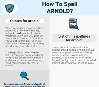arnold, spellcheck arnold, how to spell arnold, how do you spell arnold, correct spelling for arnold