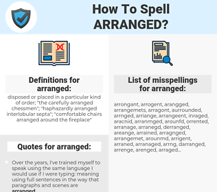 arranged, spellcheck arranged, how to spell arranged, how do you spell arranged, correct spelling for arranged