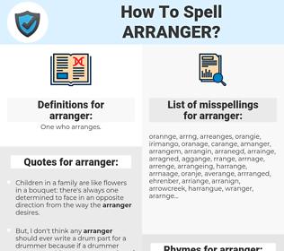 arranger, spellcheck arranger, how to spell arranger, how do you spell arranger, correct spelling for arranger
