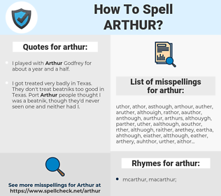 arthur, spellcheck arthur, how to spell arthur, how do you spell arthur, correct spelling for arthur
