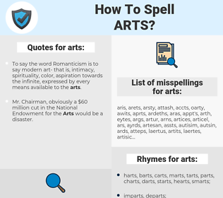 arts, spellcheck arts, how to spell arts, how do you spell arts, correct spelling for arts