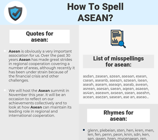 asean, spellcheck asean, how to spell asean, how do you spell asean, correct spelling for asean