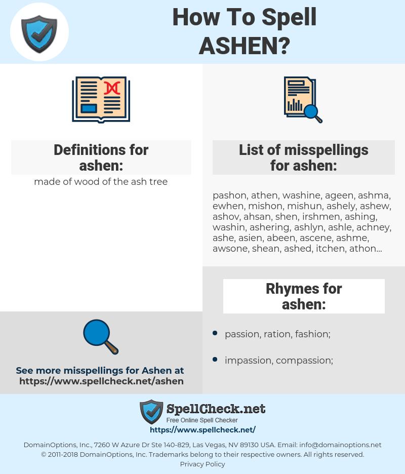 ashen, spellcheck ashen, how to spell ashen, how do you spell ashen, correct spelling for ashen