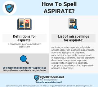 aspirate, spellcheck aspirate, how to spell aspirate, how do you spell aspirate, correct spelling for aspirate