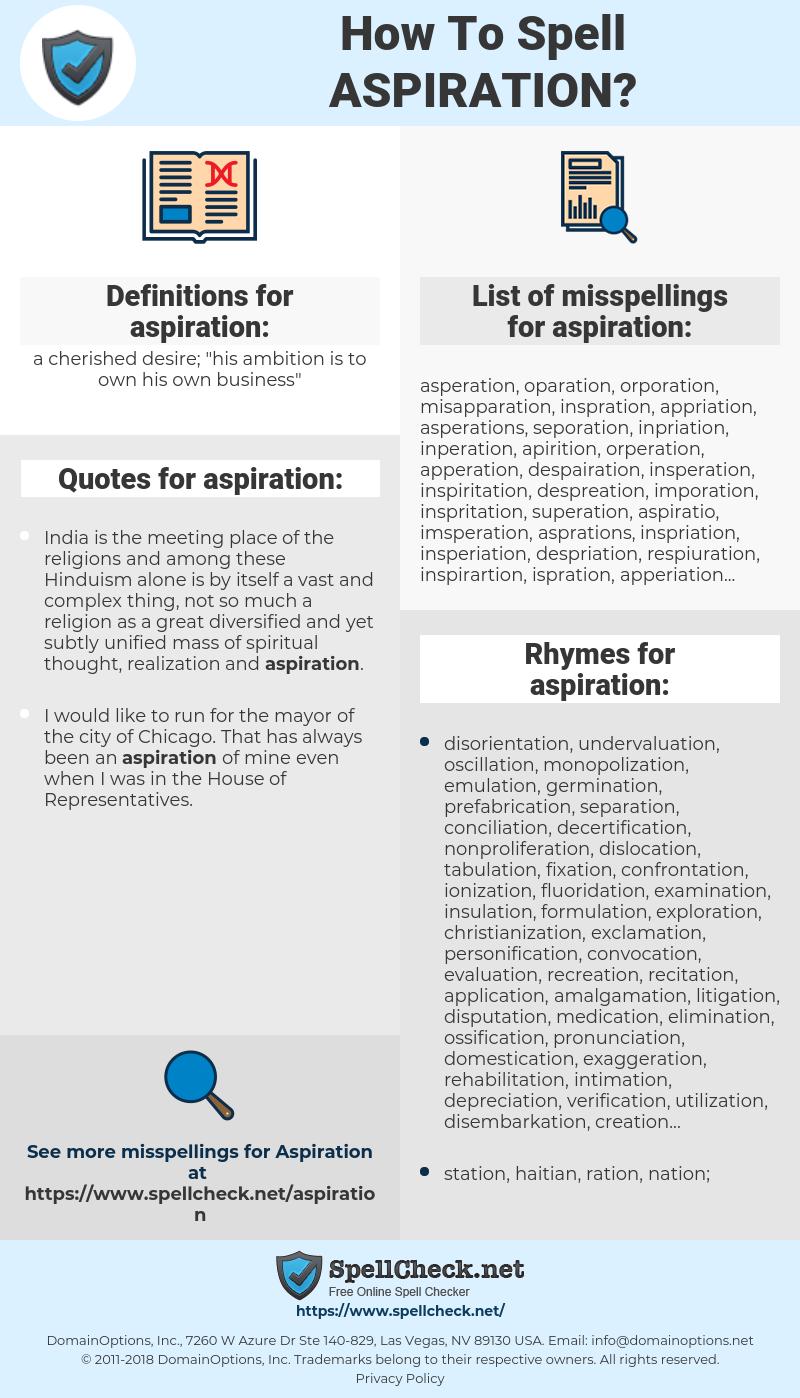 aspiration, spellcheck aspiration, how to spell aspiration, how do you spell aspiration, correct spelling for aspiration
