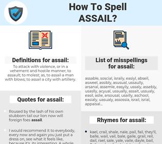 assail, spellcheck assail, how to spell assail, how do you spell assail, correct spelling for assail