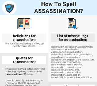 assassination, spellcheck assassination, how to spell assassination, how do you spell assassination, correct spelling for assassination