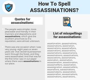 assassinations, spellcheck assassinations, how to spell assassinations, how do you spell assassinations, correct spelling for assassinations