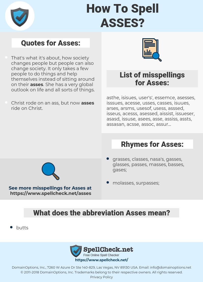 Asses Asses Online