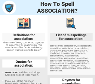 association, spellcheck association, how to spell association, how do you spell association, correct spelling for association