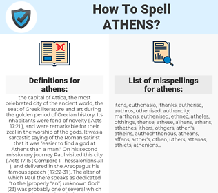 athens, spellcheck athens, how to spell athens, how do you spell athens, correct spelling for athens