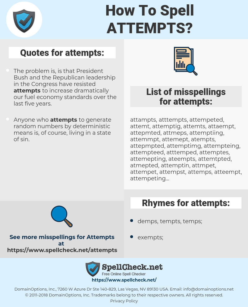 attempts, spellcheck attempts, how to spell attempts, how do you spell attempts, correct spelling for attempts