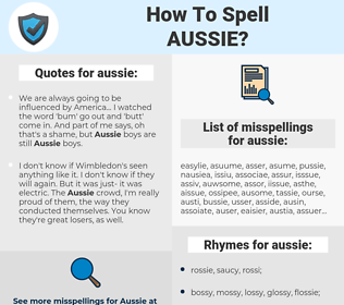 aussie, spellcheck aussie, how to spell aussie, how do you spell aussie, correct spelling for aussie