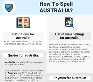 australia, spellcheck australia, how to spell australia, how do you spell australia, correct spelling for australia