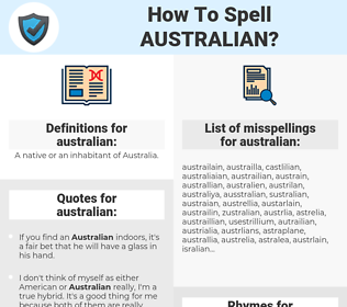 australian, spellcheck australian, how to spell australian, how do you spell australian, correct spelling for australian