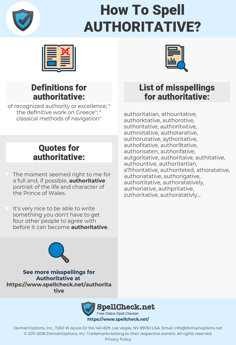 how to be authoritative