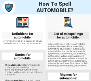 automobile, spellcheck automobile, how to spell automobile, how do you spell automobile, correct spelling for automobile