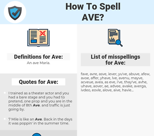Ave, spellcheck Ave, how to spell Ave, how do you spell Ave, correct spelling for Ave