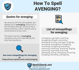 avenging, spellcheck avenging, how to spell avenging, how do you spell avenging, correct spelling for avenging