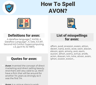 avon, spellcheck avon, how to spell avon, how do you spell avon, correct spelling for avon