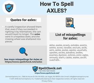 axles, spellcheck axles, how to spell axles, how do you spell axles, correct spelling for axles