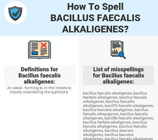 Bacillus faecalis alkaligenes, spellcheck Bacillus faecalis alkaligenes, how to spell Bacillus faecalis alkaligenes, how do you spell Bacillus faecalis alkaligenes, correct spelling for Bacillus faecalis alkaligenes