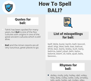 bali, spellcheck bali, how to spell bali, how do you spell bali, correct spelling for bali
