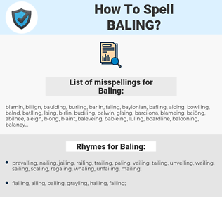 Baling, spellcheck Baling, how to spell Baling, how do you spell Baling, correct spelling for Baling