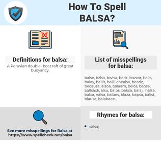 balsa, spellcheck balsa, how to spell balsa, how do you spell balsa, correct spelling for balsa