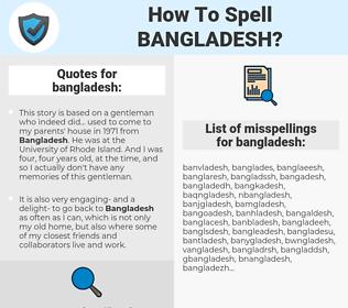 bangladesh, spellcheck bangladesh, how to spell bangladesh, how do you spell bangladesh, correct spelling for bangladesh