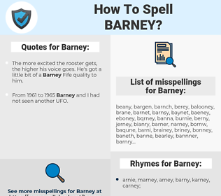 Barney, spellcheck Barney, how to spell Barney, how do you spell Barney, correct spelling for Barney