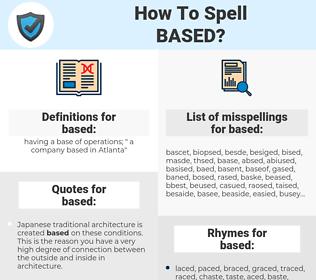 based, spellcheck based, how to spell based, how do you spell based, correct spelling for based
