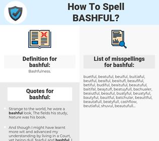 bashful, spellcheck bashful, how to spell bashful, how do you spell bashful, correct spelling for bashful