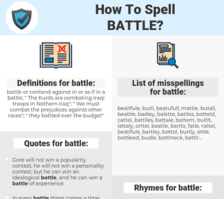 battle, spellcheck battle, how to spell battle, how do you spell battle, correct spelling for battle
