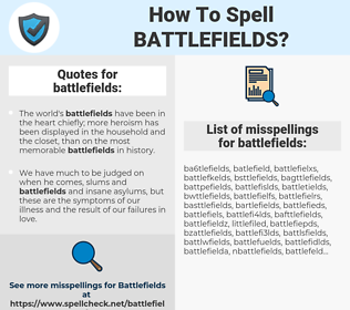 battlefields, spellcheck battlefields, how to spell battlefields, how do you spell battlefields, correct spelling for battlefields