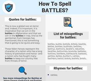 battles, spellcheck battles, how to spell battles, how do you spell battles, correct spelling for battles