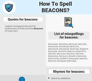 beacons, spellcheck beacons, how to spell beacons, how do you spell beacons, correct spelling for beacons