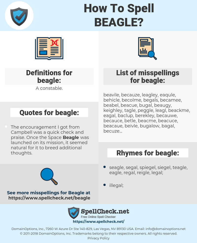 beagle, spellcheck beagle, how to spell beagle, how do you spell beagle, correct spelling for beagle