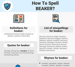 beaker, spellcheck beaker, how to spell beaker, how do you spell beaker, correct spelling for beaker