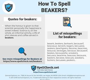 beakers, spellcheck beakers, how to spell beakers, how do you spell beakers, correct spelling for beakers