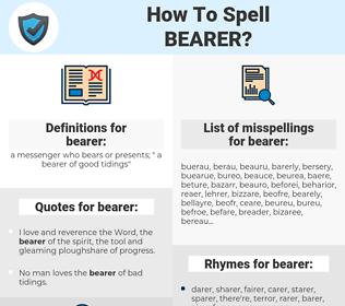 bearer, spellcheck bearer, how to spell bearer, how do you spell bearer, correct spelling for bearer