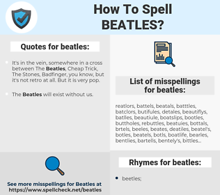 beatles, spellcheck beatles, how to spell beatles, how do you spell beatles, correct spelling for beatles