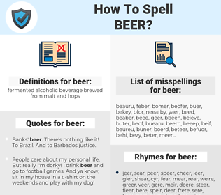beer, spellcheck beer, how to spell beer, how do you spell beer, correct spelling for beer
