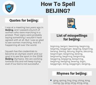 beijing, spellcheck beijing, how to spell beijing, how do you spell beijing, correct spelling for beijing