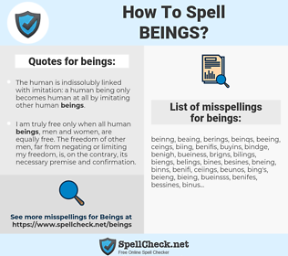 beings, spellcheck beings, how to spell beings, how do you spell beings, correct spelling for beings
