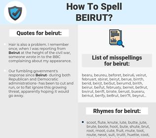 beirut, spellcheck beirut, how to spell beirut, how do you spell beirut, correct spelling for beirut
