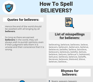 believers, spellcheck believers, how to spell believers, how do you spell believers, correct spelling for believers